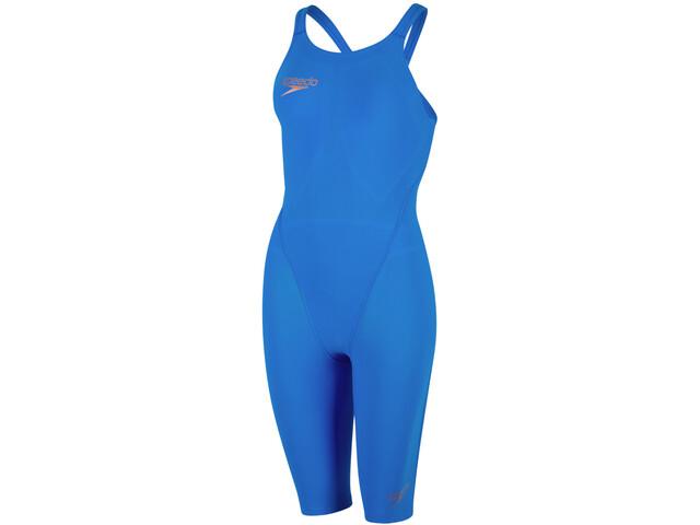 speedo Fastskin LZR Racer Element Traje de Bañ Espalda Abierta Mujer, bondi blue/copper